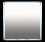 Неон - Зеркало LED 800х800 клавишный выключатель (с круглыми угл