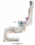 Сифон ORIO для ванны регулируемый с переливом,сгибкой трубой A -